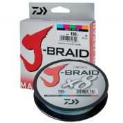 Плетеная леска Daiwa J-Braid x8 Multi Color