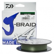 Плетеная леска Daiwa J-Braid x4 Dark Green